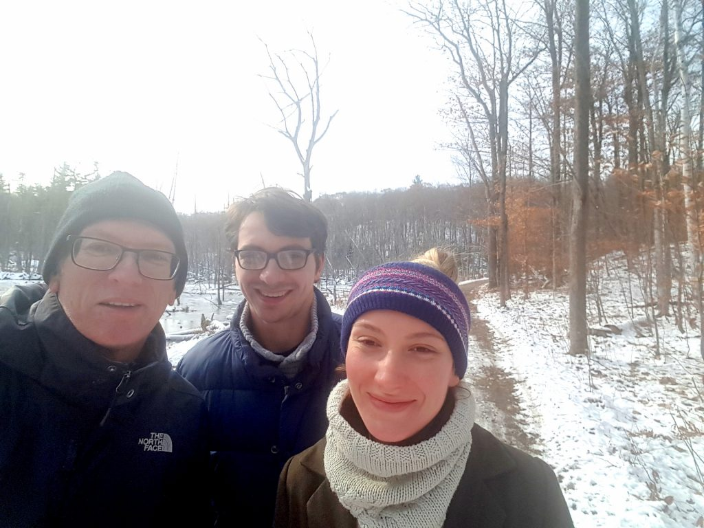 Gatineau Park in winter - Hanns, George and Emily