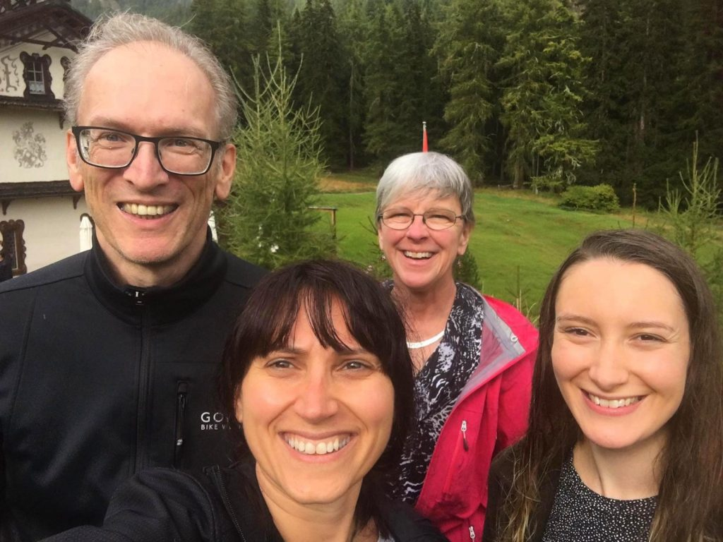Hanns, Veronika, Noreen and Emily in Guarda