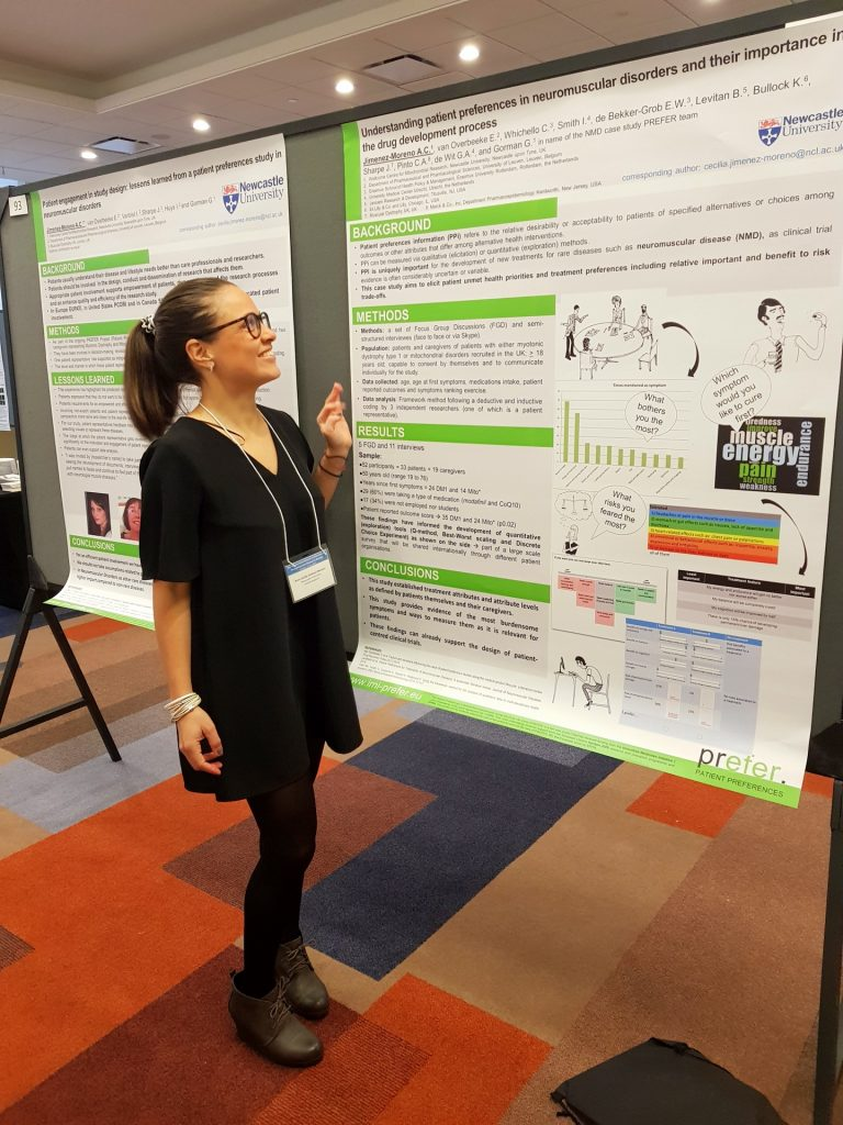 Cecilia with her PREFER posters at OttawaNMD 2019