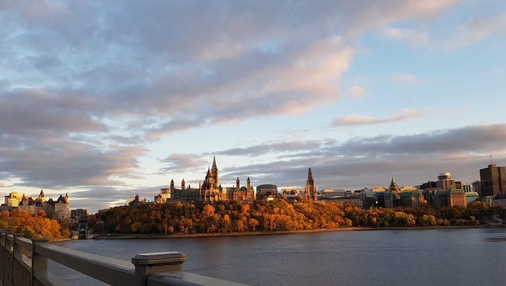 Ottawa from the bridge to Gatineau